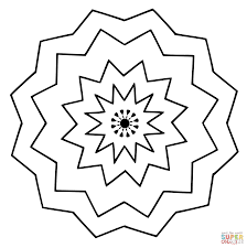 Small Picture Mandala with Simple Flower Ornament coloring page Free Printable