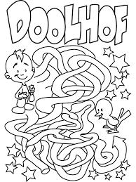Kleurplaat Doolhof Kleurplatennl