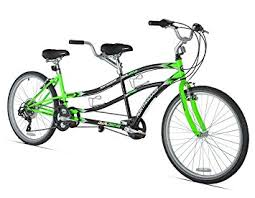 amazon com northwoods dual drive tandem bike 26 inch green