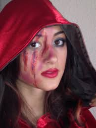 scary little red riding hood makeup images