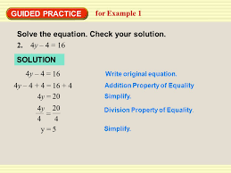 8 solve the equation check your solution