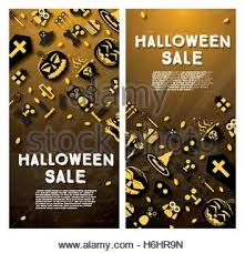 halloween sale flyer halloween pumpkin sale banner stock vector art illustration
