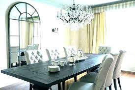 double chandelier over dining table height of proper above o