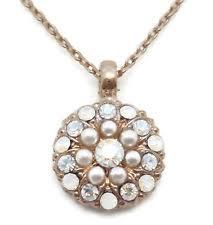mariana bermuda swarovski rose gold guardian angel necklace white pearl mix 2340