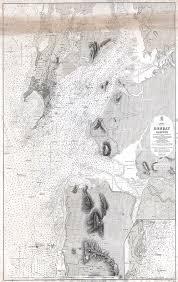 British Admiralty Charts 1879 British Admiralty Chart Or Map Of Bombay Harbor India Mumbai By Paul Fearn