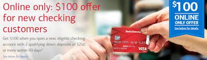 bank of america 100 checking bonus
