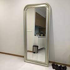 ikea e mirror full length silver