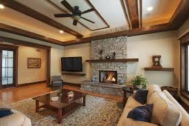 entrance ceiling living room traditional with wood coffee table mission style wood trim