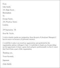Brilliant Ideas of Write Professional Resignation Letter For Job Summary