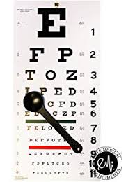 Eye Chart Actual Size Amazon Com Snellen Chart With Red Green Lines 10 Feet