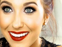 eye makeup with red lips clic red lip makeup tutorial jaclyn hill you