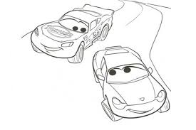 cars the movie coloring pages sally. Unique Coloring Cars Sally And McQueen Racing For Fun  Inside The Movie Coloring Pages B