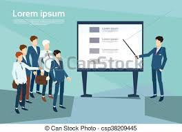 Business People Group Presentation Flip Chart Finance Team Training Conference Meeting