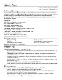 Medical Insurance Specialist Resume Lovely Billing And - Sradd.me