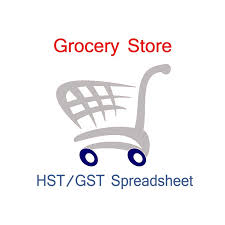 Canada Grocery Store Accounting And Sales Tax Spreadsheet Templates