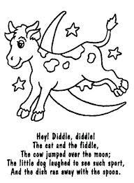 nursery rhyme coloring pages printable free