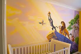 nursery murals splendid garden wall mural stencil kit saveenlarge lion king