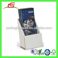 Single Book Display Stand E100 China Supplier White Cardboard Portable Single Book Display 48