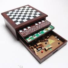 Wooden Multi Game Board Magnificent Wooden MultiBoardGame Box EBTH