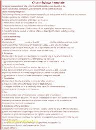 Club Bylaws Example Acepeople Co