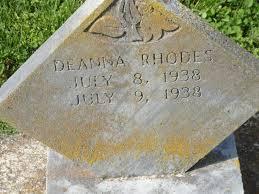 Diana Rhodes (1938-1938) - Find A Grave Memorial