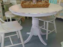 round distressed dining table