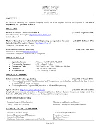 Resume Examples, Internship In Dynamic Company Objective Resume With Master  Of Technology In Industrial Engineering .
