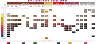 15 Unmistakable Framesi 2001 Hair Color Chart