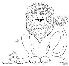 Small Picture The lion and the mouse coloring pages Free Coloring Pages