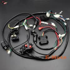 full electrics wiring harness cdi ignition coil key c7hsa spark plug full electrics wiring harness cdi ignition coil key c7hsa spark plug for 150cc gy6 atv quad bike buggy go kart twister kandi