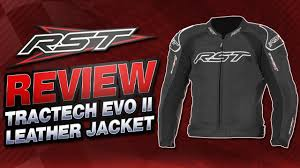 rst tractech evo ii leather jacket review sportbike track gear