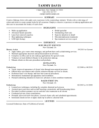 Makeup Resume Examples Artist Resume Examples Samples Makeup Template Bridal Sample Skills 10