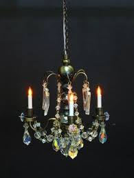 real crystal renaissance 3 arm chandlelier