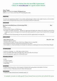 ... Mba Fresher Resume format Doc Inspirational Mba Resume Cover Letter  Career Objective for Resume General ...