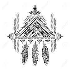 Vector Aztec Mexican Tribal Ornament Dream Catcher African Ethnic