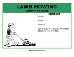 Free Lawn Mowing Flyer Template Free Lawn Mowing Flyer Template Service Jourjour Co