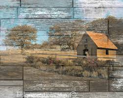 farmhouse wall decor barn picture country landscape rustic modern wall art