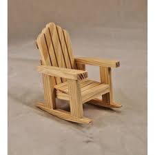 unfinished dollhouse furniture. Chair - Adirondack Rocker Unfinished Dollhouse Miniature T4227 1/12 Scale Furniture