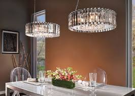 dining room lamp. Modern Round Crystal Dining Room Lighting And Simple White Table Also Transparent Back Chairs Lamp