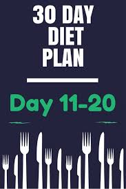 30 Day Healthy Eating Plan 30 Day Healthy Diet Plan Days 11 20 Caloriebee
