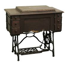 minnesota a antique sewing machine table with cast iron base
