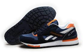 reebok mens running shoes. reebok outlet mens gl6000 classic running shoes deepblue orange,reebok ,reebok gym,latest fashion-trends u