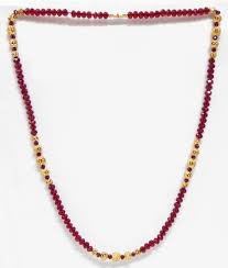 Crystal Beads Necklace Designs In Gold Red Crystal And Carved Gold Plated Bead Necklace Crystal