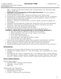 Instrumentation Design Engineer Resume Sample Cover Letter