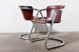 set of 4 leather and chrome dining chairs at 1stdibs innovative leather and chrome chair