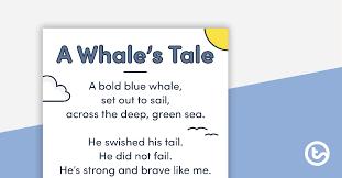 simple rhyming poetry poster teaching