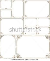 vintage frame border design. Beautiful Vintage Decorative Vintage Frames And Border Setphoto  Gold Photo Frame With  Corner Thailand Line And Vintage Frame Border Design H