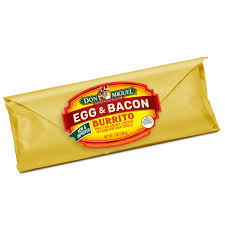 Bacon, Egg and 3-Cheese Mexican Breakfast Burrito by DON MIGUEL®