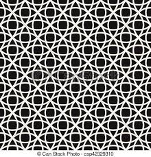 Lattice Pattern Fascinating Circle Overlapping Line Lattice Vector Seamless Black And White