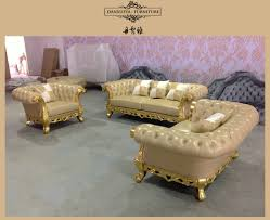 Leather Sofa Sets For Living Room American Style Morden Luxury Wood Carved Hotel Sofaoffice Sofa